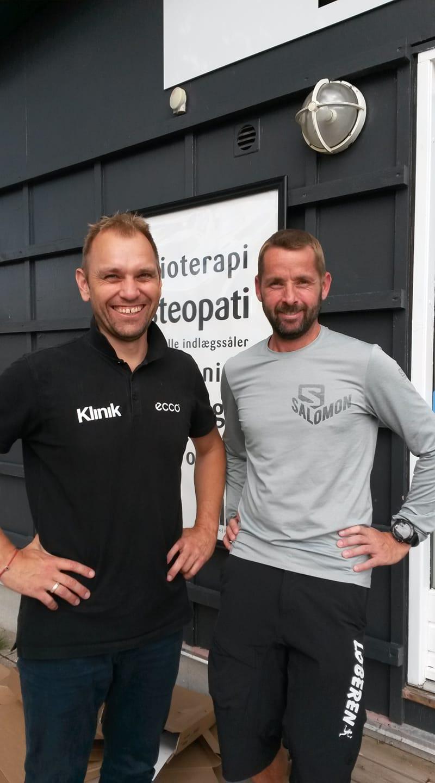 Leon Hansen (Ultraløber) og Eivind Møller fra Klinik.dk